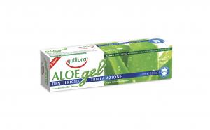 Gel de dinti cu tripla actiune, EQUILIBRA, cu 30% Aloe Vera, tub 75 ml