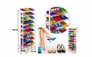 Raft de incaltaminte cu spatiu pentru 30 de perechi pantofi, la 59 RON in loc de 129 RON! Garantie 12 luni!