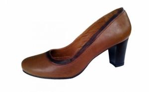 Pantofi comozi-623 maro, Incaltaminte piele