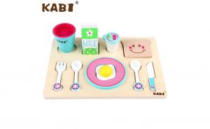 Joc Kabi lemn 2 in 1 Micul Dejun