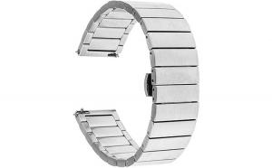Curea Metalica Premium MTP 22mm Mecanism ButterFly Silver pentru HUAWEI WATCH 2 Classic