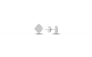 Cercei argint 925 cu patrat  placati cu