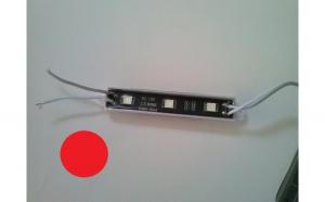 Modul 3 SMD 5050 12V fundal negru lumina rosie