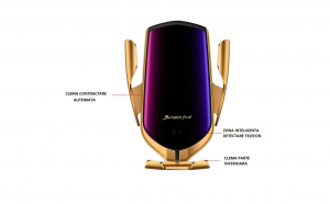 Incarcator auto wireless universal Fast Charger 10W Gold