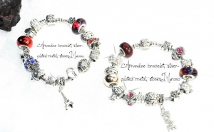 Amandine bracelet silver-plated metal, stones Murano, la doar 59 RON
