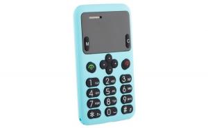 Telefon Card AEKU A6 MINI, Bluetooth, 0.96-inch, Ultra Subtire 6 mm, Albastru