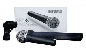 Renumitul microfon vocal SM58, buton on/off