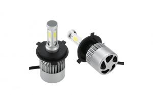 Set 2 becuri LED H4, Bi/simplu, ventilator incorporat, cip, putere 50 w, 8000 lumeni