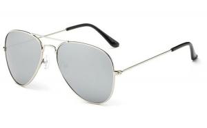 Ochelari de soare Aviator Gri Oglinda  - Argintiu
