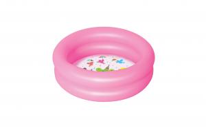 Piscina gonflabila pentru copii, 61 x 15 cm, roz, vinil