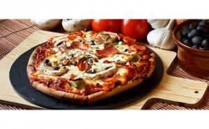 Pizza Prosciutto e funghi 24 cm (Cuptor cu Lemne – Patrick House)