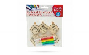 Clema din lemn colorabila cu carioca -
