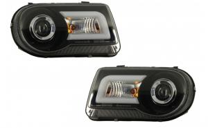 Set 2 faruri LED compatibil cu CHRYSLER 300C (2004-2008) Xenon Look