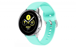 Curea Silicon Premium MTP Mint Green 20mm Quick Release, Smooth, pentru Samsung Galaxy Watch 42mm