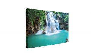Tablou Canvas Cascada Huay Mae Kamin, 40 x 60 cm, 100% Bumbac