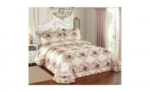 Cuvertura pat matrimonial si doua fete de perna din jacquard