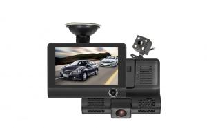 Camera auto dvr cu 3 camere incluse fata/spate si interior, filmare permanenta pe 2 din ele si ecran 4 inch