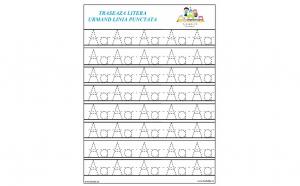 Set 33 planse laminate reutilizabile pentru exersarea scrierii literelor de la A la Z