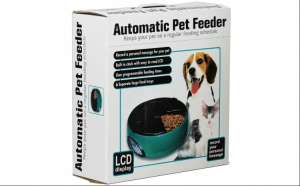 Hranitor automat pentru animale: caini/pisici, cu ecran LCD