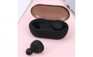 Casti bluetooth TWS 5 Wireless, Microfon, BT 5.0, Control Touch, Dock