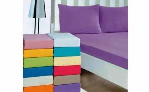 Protectie pentru saltea cu elastic, confectionata in Romania din 100% bumbac, disponibila in mai multe culori, acum la doar 53 RON, in loc de 108 RON