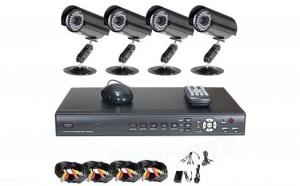 Sistem supraveghere cu 4 camere video de exterior Black Friday Romania 2017