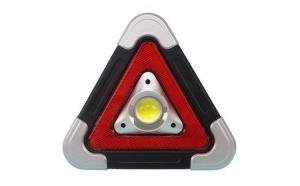 Lanterna multifunctionala HB-6609, 500 lm, in forma de triunghi, incarcare solara