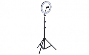 Lampa circulara LED lumina rece/calda , Ring Light cu trepied