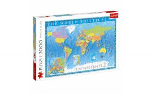 Puzzle Harta politica a lumii, pentru