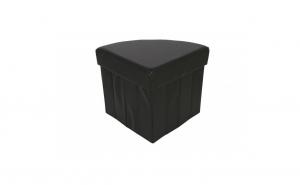 Taburet pliabil cu spatiu de depozitare, 37x37x38 cm, Grunberg (negru)