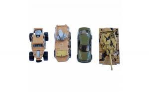 Set 4 masinute metalice si vehicule