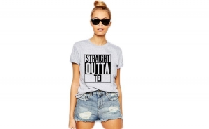 Tricou dama gri -