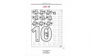 Set 10 planșe laminate reutilizabile pentru exersarea scrierii numerelor de la 1 la 10