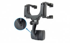 Suport auto universal rotativ 360 - cu prindere pe oglinda retrovizoare - negru