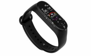 Bratara Fitness M4 Model 2019,Ritm Cardiac,tensiunea arteriala,calorii,monitorizare somn, IP67, Multisport,Negru