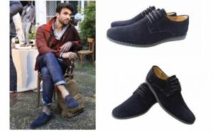 Pantofi barbati, din piele naturala intoarsa, model Tomis - comozi, pe talpa speciala