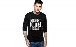 Bluza barbati neagra - Straight Outta Buzau