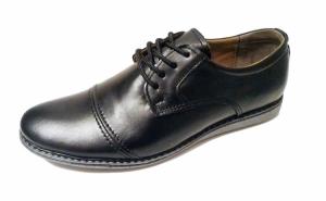 Pantofi barbati, din piele naturala 100%, cu talpa dreapta, pentru tinuta de zi cu zi, produsi in Romania