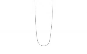 Lantisor Argint 925, Model Sarpe Rodiat, 43 cm