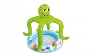 Piscina gonflabila Octopus Baby, pentru copii, Vinil, 102 x 104 cm, protectie solara