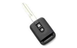 Nissan - carcasa cheie 2 butoane, (model dreptunghiular)