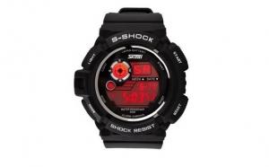 Ceas LED SKMEI AD0939 S-Shock Negru + Alb, la doar 55 RON in loc de 155 RON
