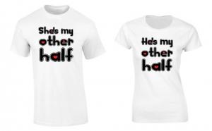 Set de tricouri pentru cuplu My other Half P025, la 99 RON in loc de 200 RON