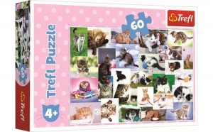Puzzle trefl 60 o lume a pisicilor