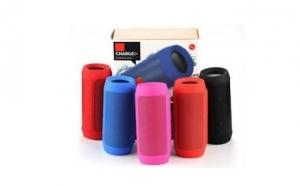 Boxa portabila Bluetooth de mare putere cu 2 difuzoare, functie de incarcare telefon si microfon incorporat
