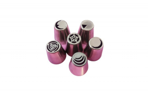Set 6 duiuri ornat din inox, Rose, 57COF