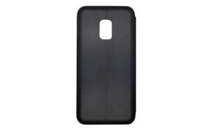 Husa tip carte din piele, Samsung Galaxy J4 Plus 2018, Magnet, Negru