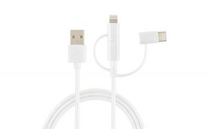 Cablu 3 in 1 Poss, Usb C, micro Usb,