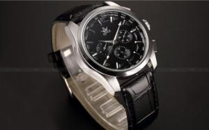 Ceas Calendar Black Dial Automatic, la doar 200 RON in loc de 450 RON