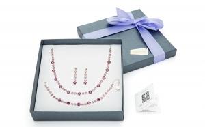 Set bijuterii cu elemente Swarovski, Produse romanesti